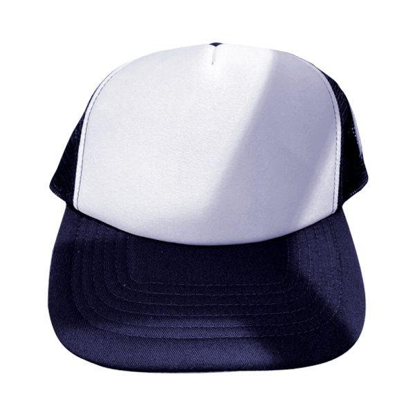 casquette blanche / bleu marine