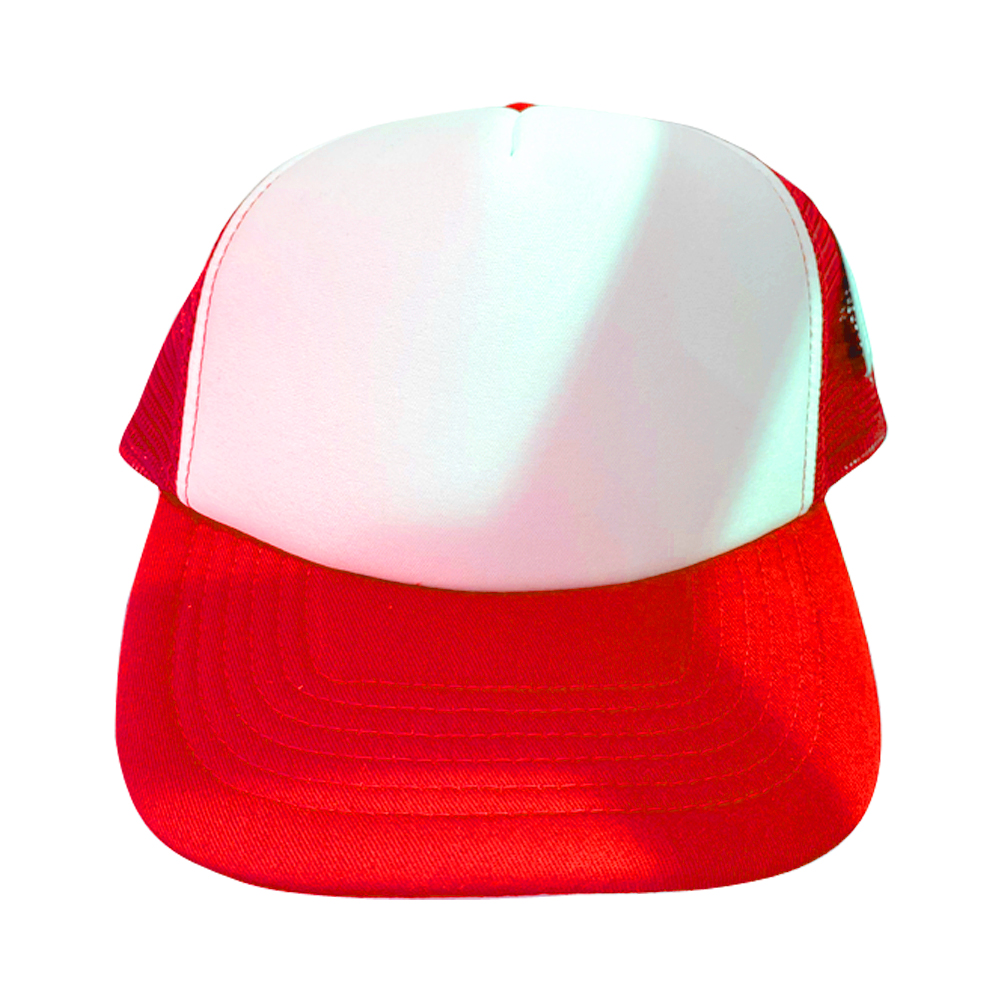 casquette blanche / rouge