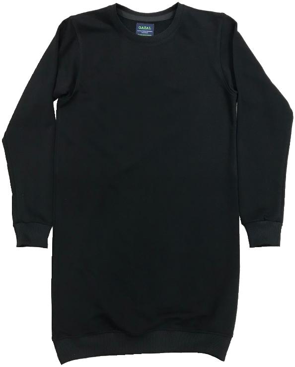 Robe col rond noir